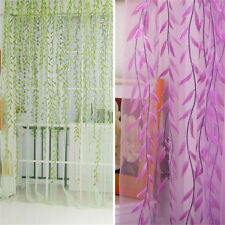 1M*2M Curtain Divider Willow Twig Hotel Room Voile Window Wicker Sheer Drapes