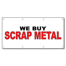 We Buy Scrap Metal Black Red 13 Oz Vinyl Banner Sign With Grommets