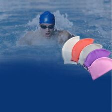 Durable Flexible Silicone Sporty Swimming Swim Cap Bathing Hat Men Ladies Adult