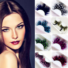 1Pair Sexy Lady Stage Comestic Makeup Lashes Feather Fake False Eyelashes Gifts