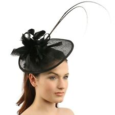 Handmade Feathers Floral Headband Fascinator Disc Millinery Cocktail Hat