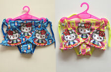 Girls Kids Swimwear Kitty Cat Swimsuit Bikini Tankini 2-8Y Beachwear Bathing