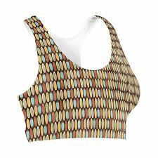 Surf Boards Retro Style Sports Bra XS-3XL All-Over-Print