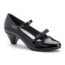 Girl's Youth SONOMA TANSIE Black Bow Mary Jane Fashion Flats Dress Shoes New
