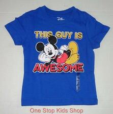 MICKEY MOUSE Toddler Boys 2T 3T 4T Short Sleeve Tee SHIRT Top Disney