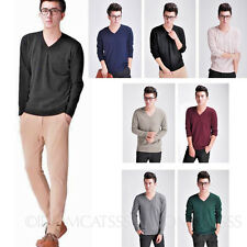 unisex V Neck Indie Wool Sweater Mens Cashmere Cardigan winter knitted Jumper