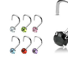 925 Sterling Silver Nose Screw Nose Ring Rings 3mm 20G