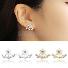 Lovely Fashion Crystal Rhinestone Ear Studs Daisy Flower Earrings Party Jewelry
