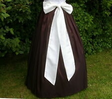 Ladies Victorian / Edwardian costume SKIRT&SASH gentry / ball gown fancy dress b