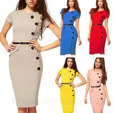 Bodycon Womens Career Vintage Go to work summer Office fitted ladies Dress Size