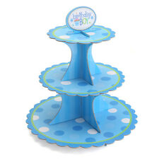 3 Layer Tier Display Cupcake Cake Stand Hard Cardboard Party Table Decor Holder
