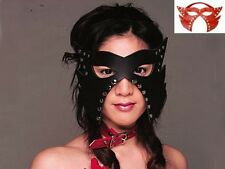 Leather Studded Cat Mask Fancy Fetish Dress Club Party Halloween Wear DE H902