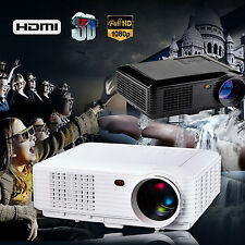LOT LED Multimedia Projector Home Theater USB TV 3D HD 1080P Business VGA/HDMI
