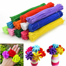 "20/100 Chenille Craft Stems Pipe Cleaners 30cm 12"" - Lots of Colours"