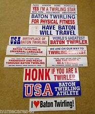 BATON TWIRLING BUMPER STICKERS I HEART TWIRLING, MY THING IS, HONK IF YOU TWIRL