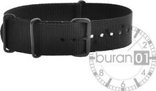 Wristwatch Strap Band Pin Buckle Military Nylon PVD Black 18mm /20mm /22mm /24mm