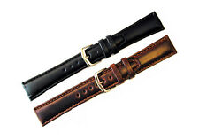 HADLEY ROMA GENUINE OIL TANNED LEATHER WATCH BAND SHORT LENGTH