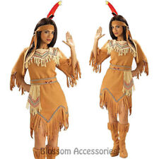 C845FN Native American Indian Maiden Pocahontas Wild West Fancy Dress Costume