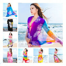 Ladies Beach Sarong Pareo Dress Wrap Swimwear Beach Cover Up Scarf Sun Dresses
