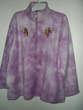 "NEW PLUS SZ 26/28W POOH & TIGGER FLEECE TUNIC ""SNOWBALL FIGHT"" EMBROIDERED ART"