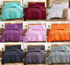 Solid Bed Quilt Cover Duvet Cover Set Single/Double/Queen/King Super King Sizes