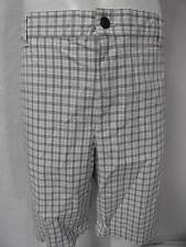 Men's Dockers gray-white plaid casual flat front  shorts size- 40,42,44 NWT