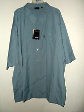 NWT big & tall BLUE CHECK MICRO PLAID SHIRT 65%POLY 35%RAYON sz 5x, 4x or 2x