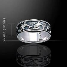 Stunning Sterling Silver Dolphin Ring - Meticulously crafted