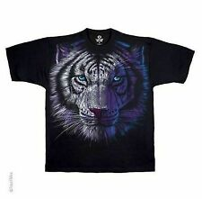 WHITE TIGER EXOTIC FOREST CAT ANIMAL NATURE BLUE EYES FANTASY T TEE SHIRT S-2XL