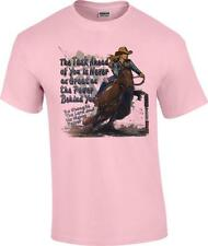 Task Ahead Power Behind Barrel Racing Christian Rodeo Cowgirl T-Shirt