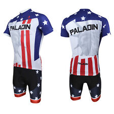 Men Statue of Liberty Bicycle Bike Cycling Short Jersey&Short Pants Sport D008
