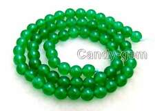 "SALE High quality small Round 6mm Green jade gemstone beads strands 15""-los651"