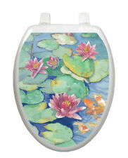 Lily Pad Toilet Tattoo  Removable Reusable Bathroom Decoration