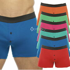 3,6 or 12 Pack Mens Bright Colour Polycotton Boxer Shorts Sizes S M L XL