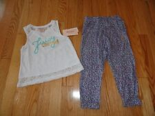 Juicy Couture Girls Outfit Rayon Pants Shirt Set Toddler Girl's 3 3T 4 4T NWT