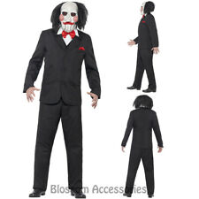 CL923 Saw Jigsaw Creepy Costume Mens Halloween Movie Horror Scary Puppet Mask