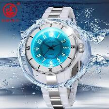 7 Color OHSEN LED Light Waterproof Stainless Steel Band Mens Sports Quartz Watch