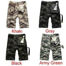 Casual Shorts Military Army Cargo Loose Mens Trousers Work  Summer Outdoor H2J5