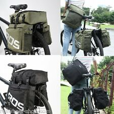 35LTR WATER RESISTANT 3 in 1 TRIPLE PANNIER bike bicycle rear bag shoulder bag