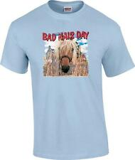 Funny Bad Hair Day Cowgirl Horse T-Shirt