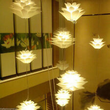 Fashion Lotus Chandelier Pendant Hanging Ceiling Lamp Shades DIY For Light E27