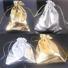 25/50/100Pcs Sheer Wedding Party Favors Drawstring Gift Bag Candy Pouch 12*9CM
