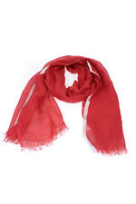 Max Mara Scarf Scarves Foulard -60% MADE IN ITALY Woman Reds 15410482-