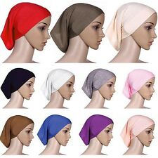 Islamic Muslim Women's Head Scarf Brief Underscarf Hijab Cover Headwrap Bonnet T