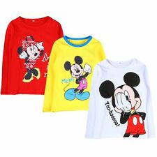 Hot Sale Kids Baby Boys Girls Cute Mickey Minnie Mouse Long Sleeve T-Shirt Tops