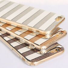 Fashion Luxury Bling Glitter Stripe Hard PC Back Case Cover For iPhone 5 6S Plus