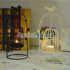 Vintage Iron Bird Cage Lantern Candle Holder Candlestick Wedding Decor White/BLK