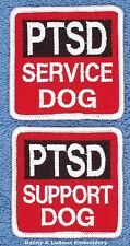 1 PTSD SERVICE DOG SUPPORT PATCH 2.5X2.5 in Danny & LuAnns Embroidery assistance