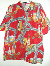 NWT RED ALOHA BEER HAWAIIAN SHIRT size L or XL