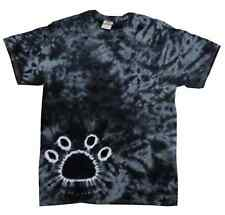 Paw Tie Dye Tee, Black, Kids Youth XS (2-4) to Youth L (14-16), 100% Cotton